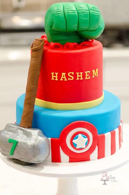 Avengers Cake by Biba cakes