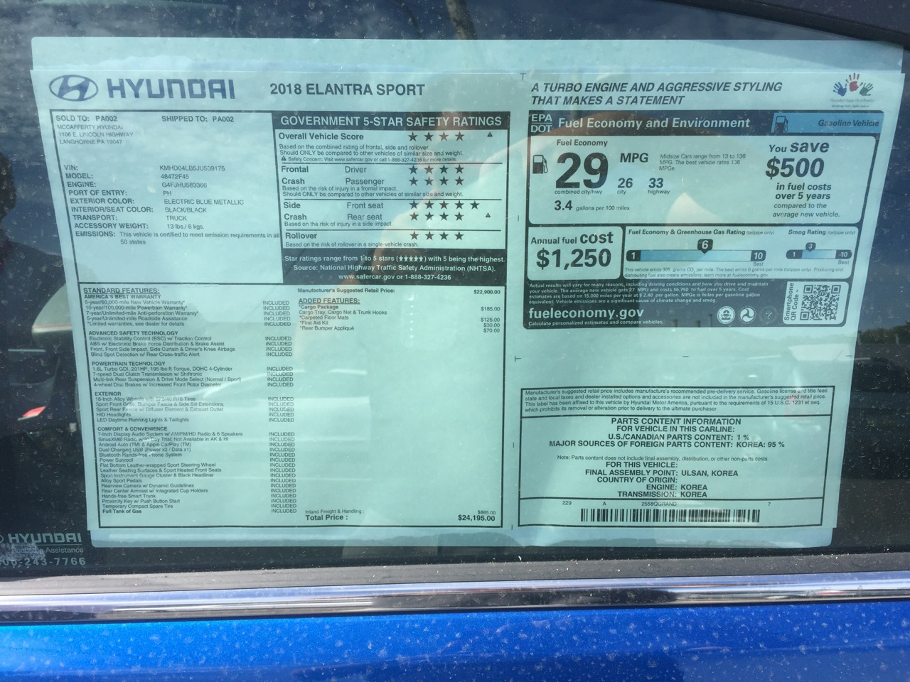 Hyundai Elantra Sport 13