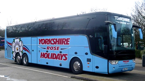 YJ62 JYS 'Yorkshire Rose Holidays' Van Hool Astron TX16 /1 on 'Dennis Basford's railsroadsrunways.blogspot.co.uk'