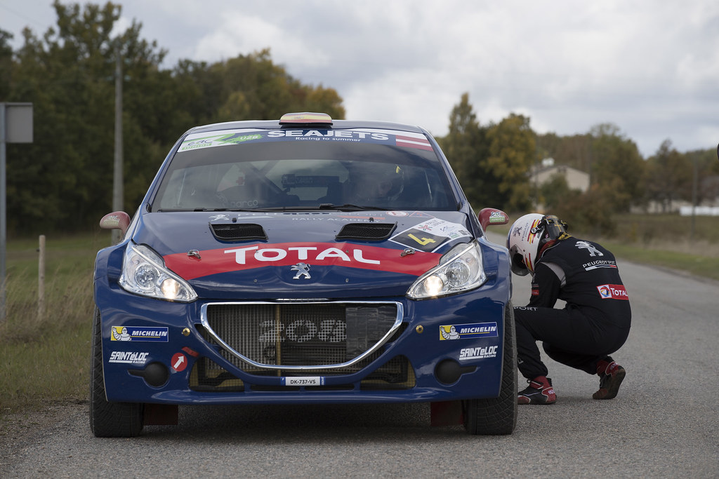 López Pepe and Rozada Borja, Peugeot Rally Academy, Peugeot 208 T16, ERC Junior U28 action during the 2017 European Rally Championship ERC Liepaja rally,  from october 6 to 8, at Liepaja, Lettonie - Photo Gregory Lenormand / DPPI