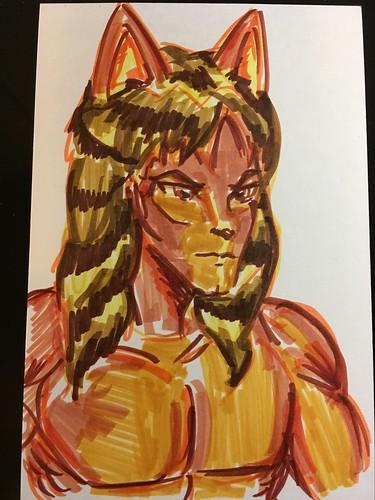 Pitt Artist brush pens on Deleter Comic book paper