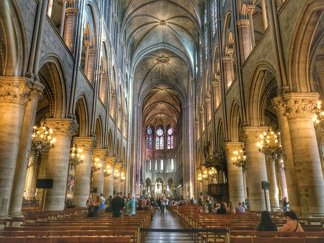 The Interior of the Notre Dame, Paris