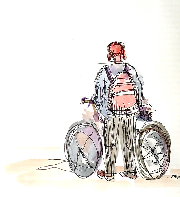 bike commuter inktober