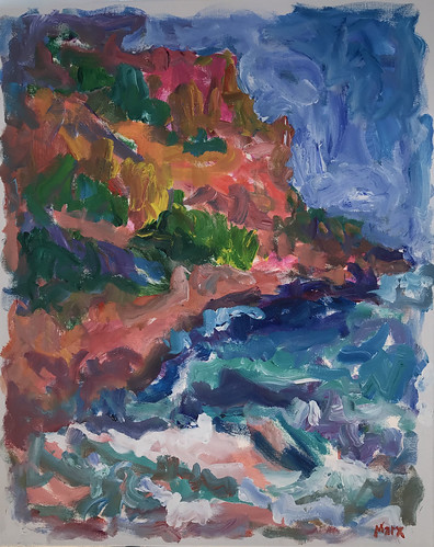 Cap Canille, Cassis 2017, 30x24, acrylic on canvas