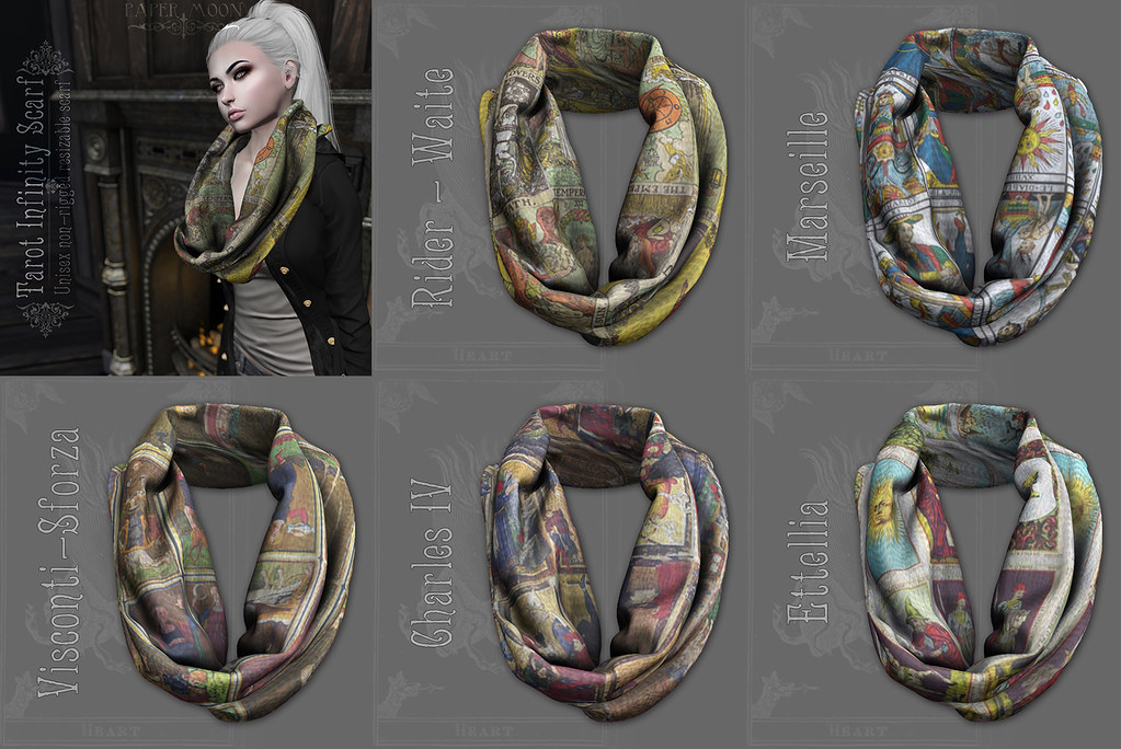 *pm* Tarot Infinity Scarf poster