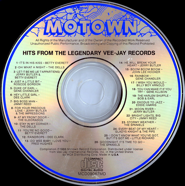 M09067 MCD09067MD 3 Various Artists - Hits From The Legendary Ve Jay Records