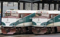 Amtrak #90252 and 90253 F40PH NPCU