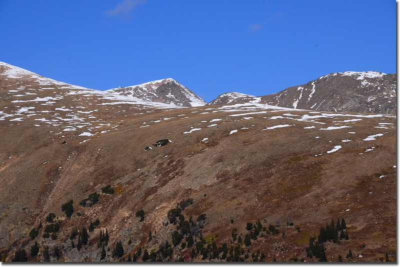 Looking Northwest at Mount Eva from Bill Moore Lake Trail near 11,185'