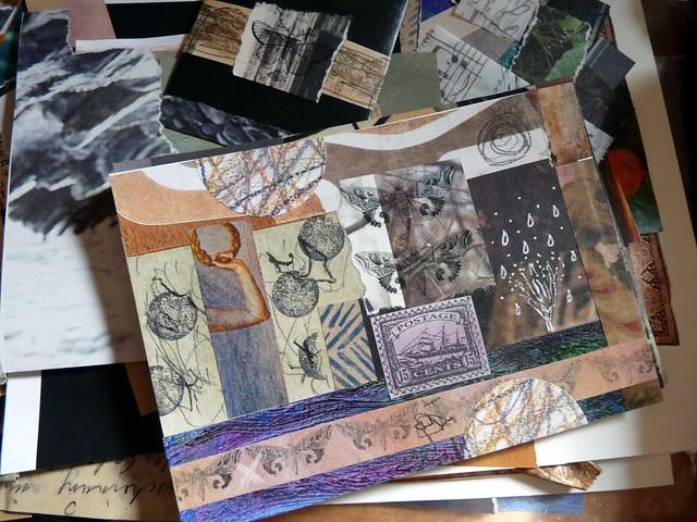 Making collage postcards
