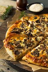 Gourmet Homemade Mushroom Pizza