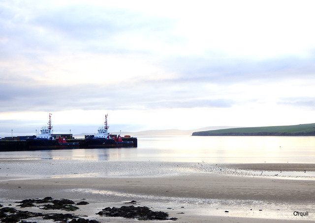 Two Orkney Tugs Moored At Scapa Bay