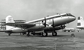 1953 RNZAF Handley Page  HP.67 Hastings C.2 NZ5804 at Heathrow