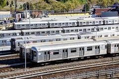 NYC Subway - East New York Yard - R-42 4824, R-32 3501, R-160A 8365, etc.