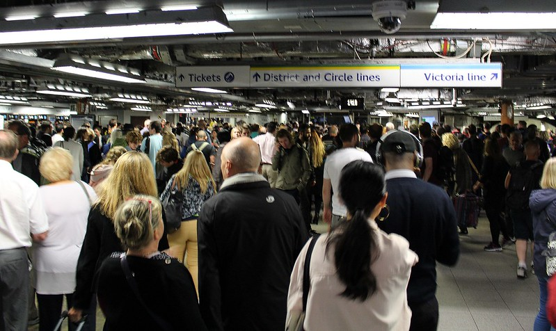 London Victoria Underground station disruption