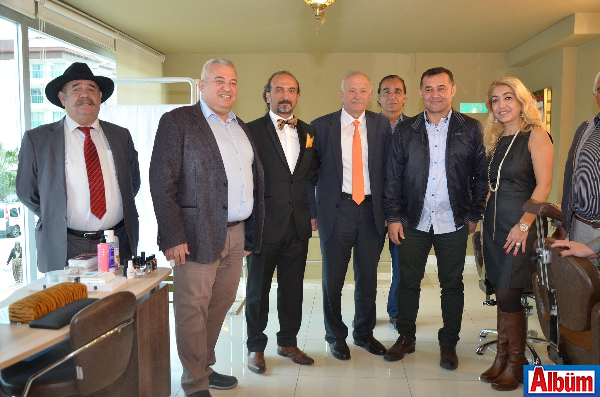 Yakup Yavru- ALTSO Başkanı Mehmet Şahin-Bülent Erkol-ALESO Başkanı Nuri Demir-Alanya Belediye Başkanı Adem Murat Yücel-Aysel Kartal Erkol