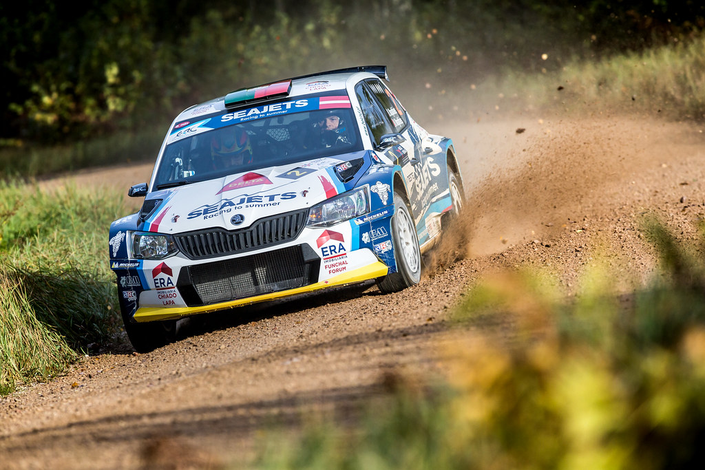 02 Magalhaes Bruno and Magalhaes Hugo, Skoda Fabia R5 action during the 2017 European Rally Championship ERC Liepaja rally,  from october 6 to 8, at Liepaja, Lettonie - Photo Thomas Fenetre / DPPI