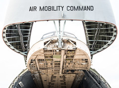 Raised Nose of Lockheed C-5M Super Galaxy (60017) Lifted to Provide Access to Interior