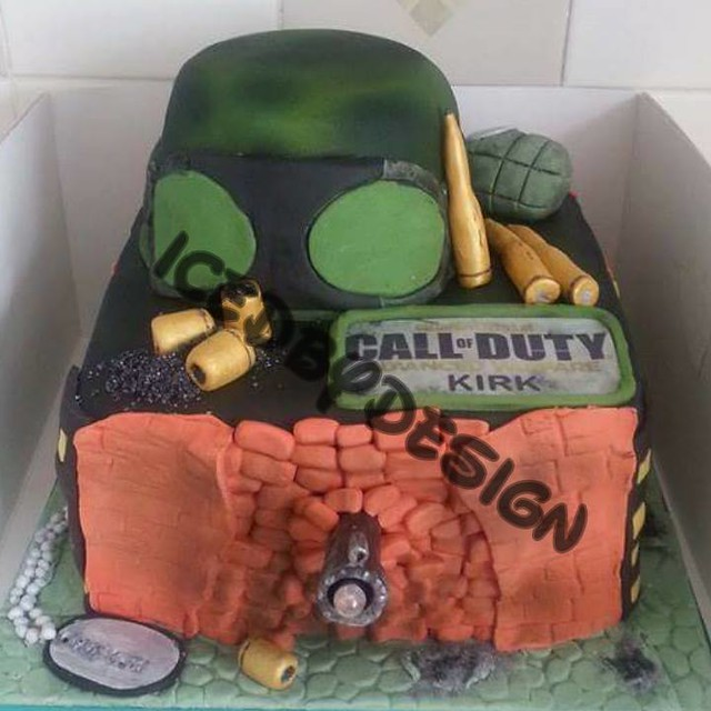 Call of Duty Cake from Iced by design cakes and cupcakes