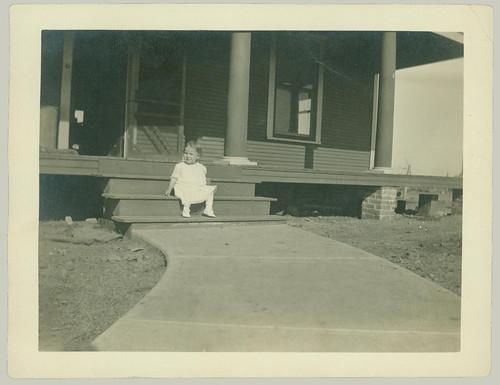 Child on steps