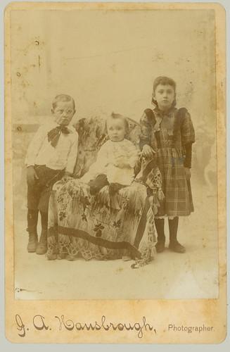 Cabinet Card three children
