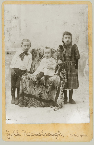Cabinet Card three children