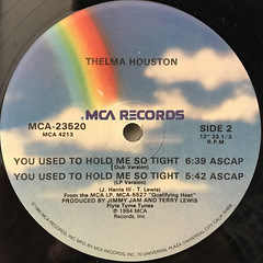 THELMA HOUSTON:YOU USED TO HOLD ME SO TIGHT(LABEL SIDE-B)