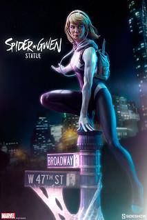 Sideshow Collectibles 蜘蛛宇宙系列【女蜘蛛人關·史黛西】Spider-Verse Statue Collection Spider-Gwen 1/5 比例全身雕像作品