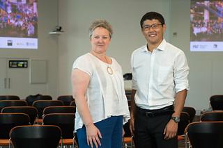 Professor Rowena Barrett and MIT's Erdin Beshimov