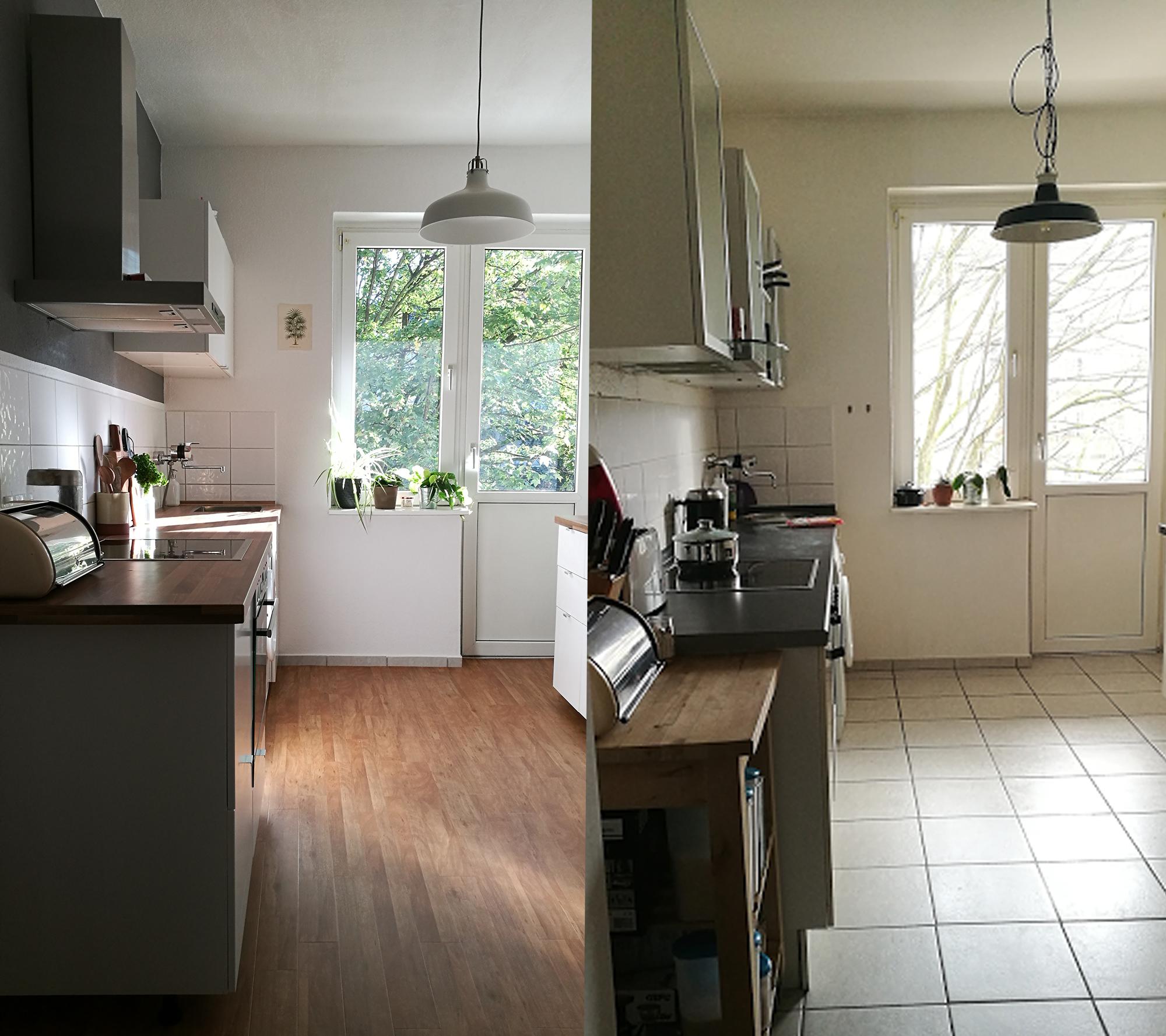 Küche-Nachher-Vorher