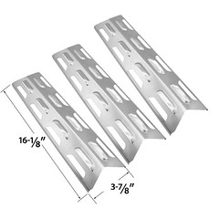 3-PACK-REPLACEMENT-STAINLESS-STEEL-HEAT-PLATE-SHIELD-FOR-NORTH-AMERICAN-OUTDOORS-KENMORE-MASTER-FORGE