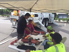 "Hawaii Electric Light at Home Depot Kailua-Kona's ""Fire Fest"" - October 7, 2017: Keiki learning from our linemen"