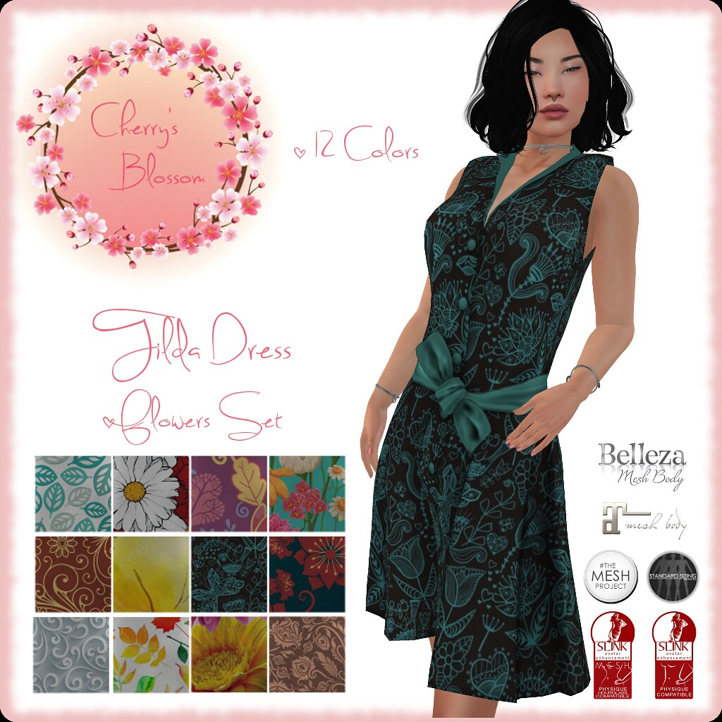 Tilda Dress Flowers