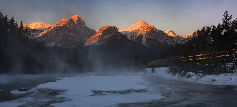 Morning Train, Banff Natl Park