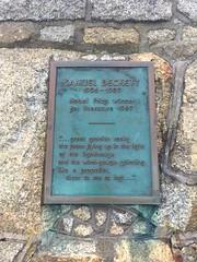 Photo of Samuel Beckett bronze plaque
