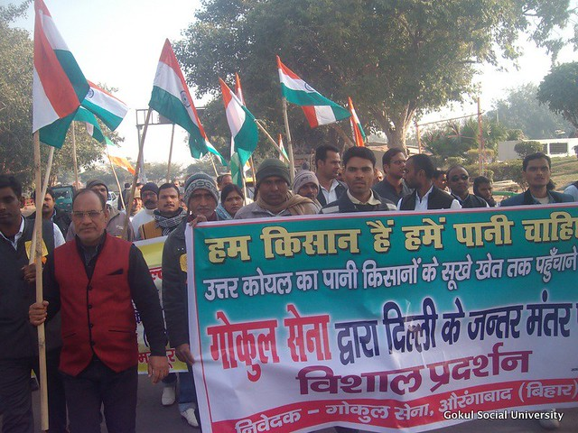 Bihar North Koel Kutaku Dam - Protests in Delhi