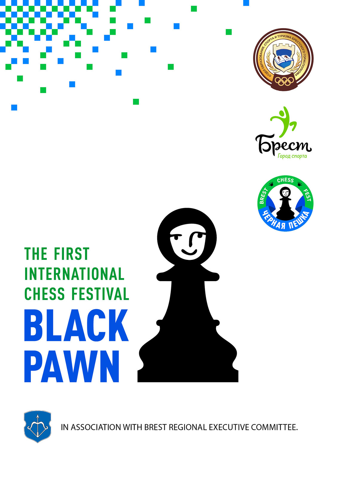 chess festival Black pawn