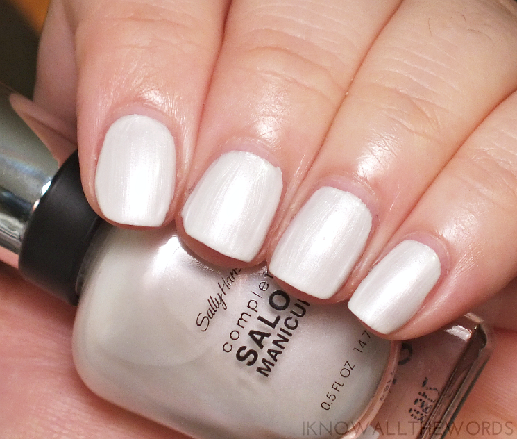 sally hansen black to basics collection pearly whites