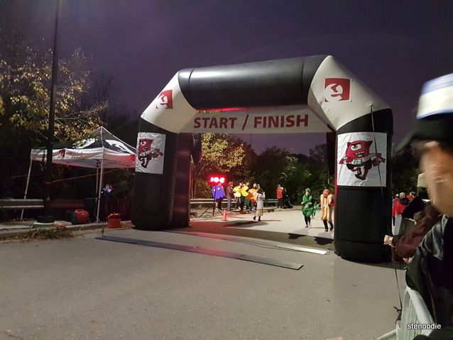 Monster Dash 5K Race Finish line