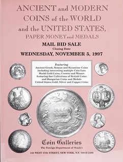 November 1997 Coin Galleries auction catalog