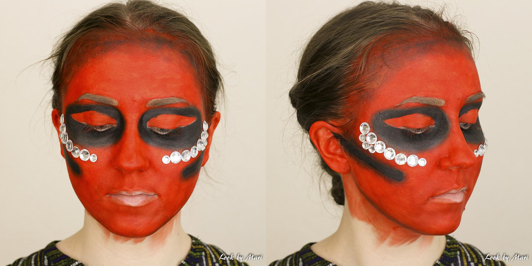8 paholainen piru meikki ideat 2017 asu tutoriaali video blogi kaunis pelottava