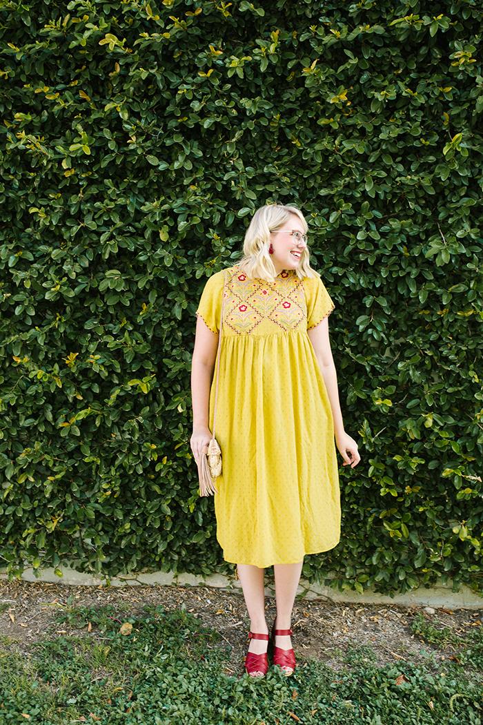 austin fashion blogger writes like a girl yellow zara dress4