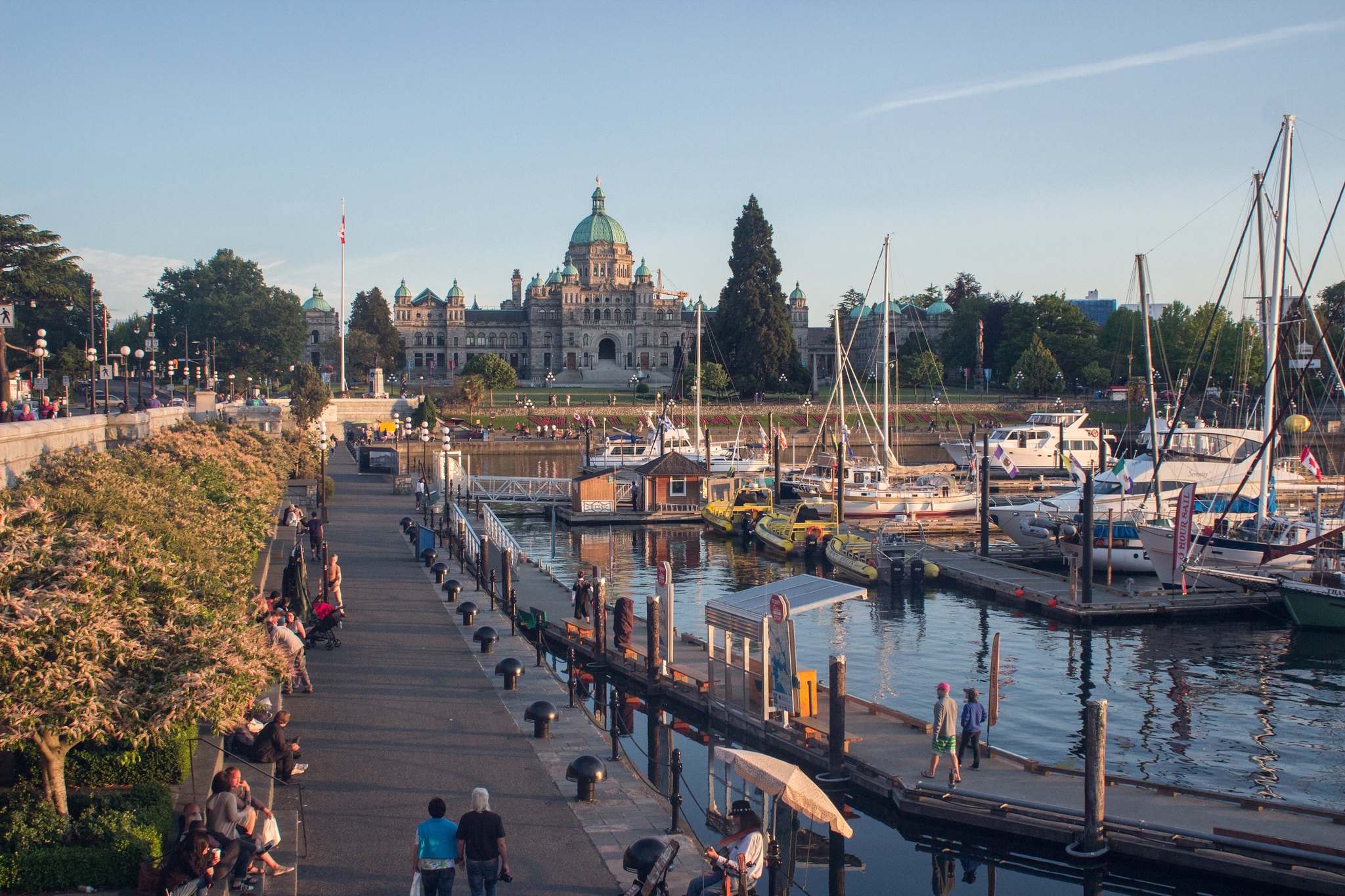 Golden hour over the BC Parliament Building, Victoria