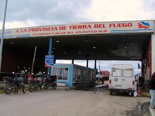 Border Chile-Argentina on Tierra del Fuego