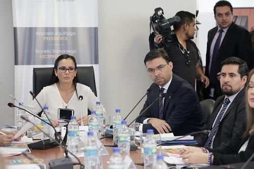 Comisión de Justicia recibe a Juan Pablo Pozo Bahamonde, presidente del Consejo Nacional Electoral (CNE)
