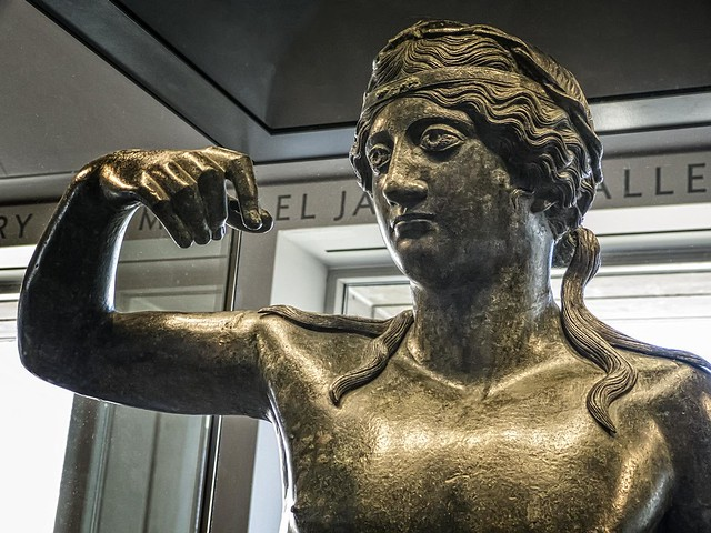 Bronze statue of a young Dionysos from the eastern Mediterranean Hellenistic or Roman 100 BCE - 100 CE