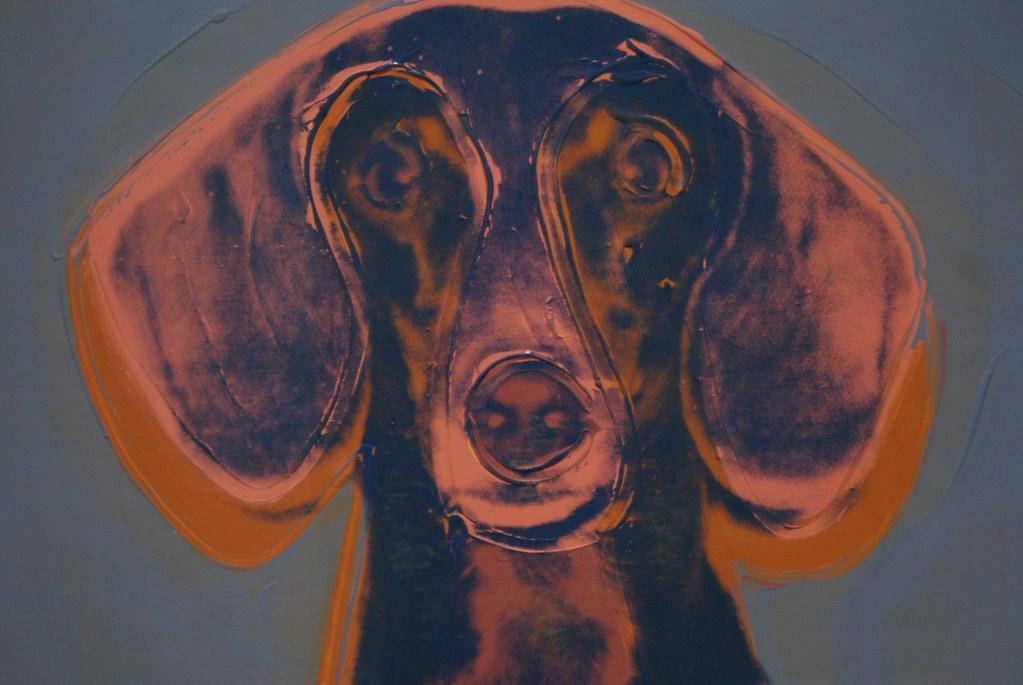 """""""Portrait of Maurice"""", toile d'Andy Warhol à la galerie nationale d'art moderne d'Edimbourg."""