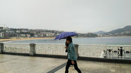Llueve en Donostia
