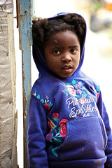 Namibia, young girl in township
