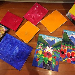 """When sales are slow and I have too many large paintings I do """"pot boilers"""" an evil word for many artists. However small paintings are playful and a good way of finding new ideas. I'm a scot and when people spend their hard earned money on my paintings I g"""