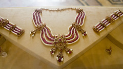 An Indian Style pearls necklace at Royal Jewelry Museum of Egypt